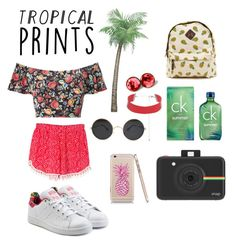"""Tropical Prints"" by pamela-maldonado ❤ liked on Polyvore featuring adidas Originals, WithChic, Miss Selfridge, Calvin Klein, Polaroid, tropicalprints and hottropics"