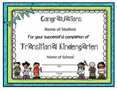 This is an editable version for Transitional Kindergarten!