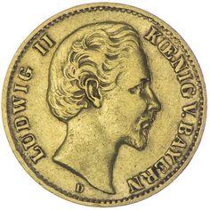 10 MARK 1873 D Deutsches Kaiserreich Bayern, Ludwig II. 1864 - 1886