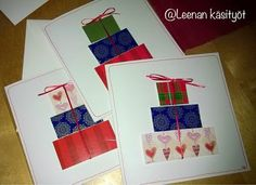 Leenan käsityöt: joulukuuta 2014 Diy Cards, Haku, Christmas Cards, Diy Ideas, Google, Noel, Christmas E Cards, Homemade Cards, Cards Diy