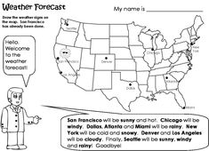 Fichas Imprimibles Para Trabajar Vocabulario En Inglés Printable - Weather forecast printable