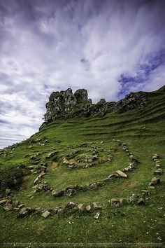 Castle Ewen in Fairy Glen, Uig, Isle of Skye, Scotland.