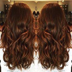 Amy's beautiful auburn/cinnamon/carmel swirl, I have hair envy!! #beautybylindseyg #colourtheorysalon #balayage