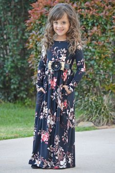 Black Floral Long Sleeve Maxi, Dress, Floral Dress, long Sleeve Dress, Ryleigh Rue Clothing, Boutique, Fashion, Online Shopping, Online Boutique, Style, Fashion Blogger