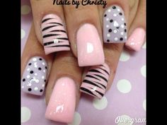 Pink and purple stripes and dots