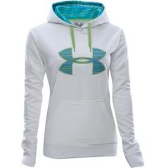 White, blue and green Under armour bunny hug.