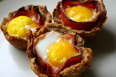 Bacon & Egg Breakfast Cups #breakfast #recipe #yummy