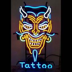 Neon Signs: Devil Tattoo Neon Sign