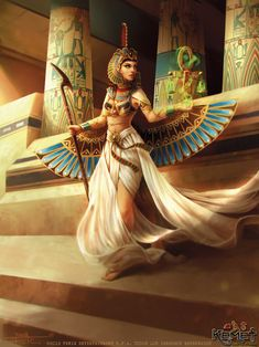Maat Incarnate by Feig-Art on DeviantArtYou can find Egyptian goddess and more on our website.Maat Incarnate by Feig-Art on DeviantArt Isis Goddess, Goddess Art, Maat Goddess, Egyptian Women, Egyptian Art, Egyptian Costume, Egyptian Jewelry, Ancient Egypt Art, Ancient History