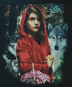 120cm-100cm 'Wolf And Red'  oil on canvas yusuf aygeç