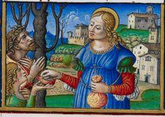 St Elizabeth of Hungary. Add MS 34294 f. 256r