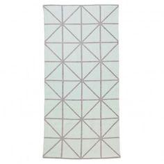 Teppich geometrischer Aufdruck - Hellgrau/Wassergrün