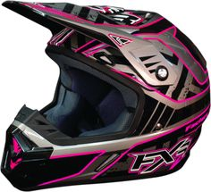 FXR Women's OCTANE Snocross Helmet - Fuch-Charcoal - Snowmobile Gear to go with my boots, coat and pants and hopefully snowmobile