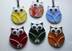 Stained glass owl by Cristalmosaico on Etsy, €5.00