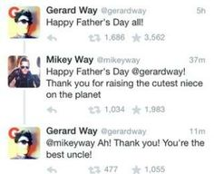 This is adorable!!!!!!? Mikey and Gerard and bandit way