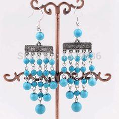 Найти ещё Висячие серьги Сведения о Винтаж дизайн элегантный стиль синий Tuquoise мотаться, высокое качество сережки сердце, Китай серьги якорь поставщиков, Бюджетный серьги ключ из Lucky Fox Jewelry на Aliexpress.com
