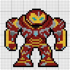 Hulkbuster (Mark II) Perler Bead Pattern