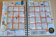 I could actually do this.Just a few minutes everyday. Calendar Journal Pages