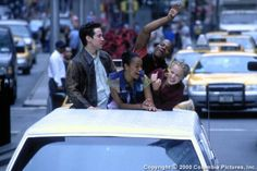 Charlie Sims (Sascha Radetsky), Erik Jones (Shakiem Evens), Eva (Zoe Saldana), Jody Sawyer (Amanda Schull) ~ Center Stage (2000) ~ Movie Stills #amusementphile
