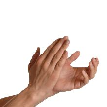 Hands clapping transparent image
