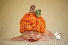 Newborn Pumpkin Beanie