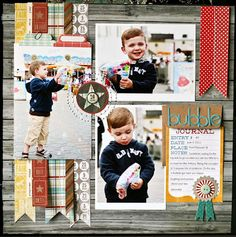 cute layout by Nancy at The Paper Orchard
