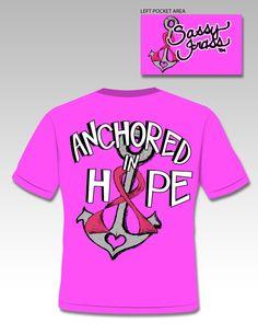 edb861b82f4 Breast Cancer Awareness Anchor tee from Sassy Frass Tees. Order at  sassyfrasstees.com Breast