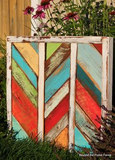 Reclaimed Herringbone Art and A Tale of Staging Pictures http://bec4-beyondthepicketfence.blogspot.com/2014/07/reclaimed-herringbone-art-and-tale-of.html