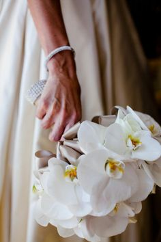 phalaenopsis bouquet- by Mille Fiore on Style Me Pretty