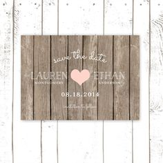 Rustic Save The Date, Wood Save The Dates with Heart, Wood Save The Date Cards on Etsy, $70.28 AUD
