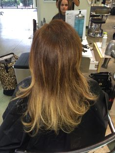 Balayage color retouch grey coverage hair Hair color Paul Mitchell the school Easni
