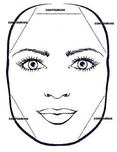Contour on the corners of either side of your forehead and across th hairline.  Contour on either side of your jaw blending up to the bottom of your ear.  Highlight your forehead,under your eyes and your chin to draw attention to the centre of your face.