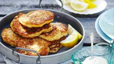 Enjoy these easy, tasty fritters with a dollop of aioli (garlicky mayonnaise) and wedges of lemon for squeezing.