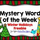 The Mystery Word of the Week is something my students use as a part of their daily routine to boost their vocabulary. This set includes a free Mys...