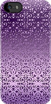 Damask Style Inspiration #iPhone #case #cover #damask #baroque #victorian #floral #purple http://www.redbubble.com/people/medusa81/works/11021825-damask-style-inspiration?p=iphone-case