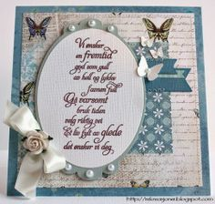 {Re}kreasjoner Cardmaking, Birthday Cards, Scrapbooking, Paper Crafts, Inspiration, Bday Cards, Biblical Inspiration, Tissue Paper Crafts, Paper Craft Work