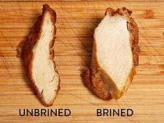 Here is a picture that compared the chicken that not wearing a chicken soaked in brine solution.  The difference is obvious!  We've plump obviously better of chicken soaked in brine solution.  This salt is decomposed proteins, but there's such because moisture is absorbed into the likely.  Certainly, you will see good to have a fresh cut.
