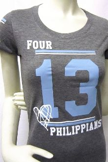 Philippians 4:13 Women's Athletic Tee - This one too! LOVE these! =)