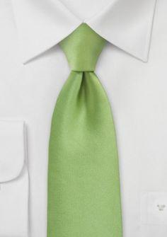 Mikrofaser-Businesskrawatte unifarben grün