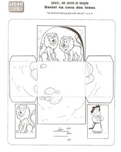 Free downloadable for Daniel and the Lions' den. Color and