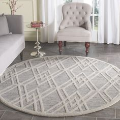 Safavieh Handmade Cambridge Modern Grey/ Ivory Rug