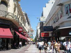 Peatonal en Rosario, Santa Fe.