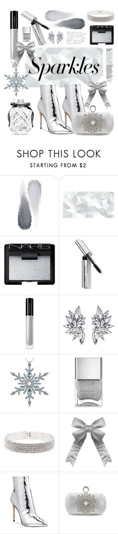 """#PolyPresents: Sparkly Beauty"" by elza-santos ❤ liked on Polyvore featuring Clé de Peau Beauté, NARS Cosmetics, Bobbi Brown Cosmetics, Illamasqua, Nails Inc., Natasha, ALDO, Victoria's Secret, contestentry and polyPresents"