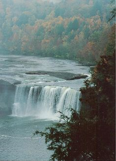 Cumberland Falls, Corbin Kentucky.  The Niagra Falls of the South.