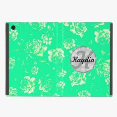Love it! This Trendy Bright Teal Modern Vintage Floral Monogram Cases For iPad Mini is completely customizable and ready to be personalized or purchased as is. It's a perfect gift for you or your friends.