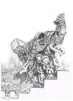 Been playing alot of warcraft latley, what'd yall think of this pencil drawing?
