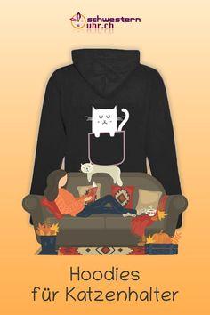 Du und dein Stubentiger Sweatshirts, Sweaters, Fashion, Comfortable Work Shoes, Funny Hoodies, Jacket With Hoodie, Rain Jacket, Hang In There, Moda