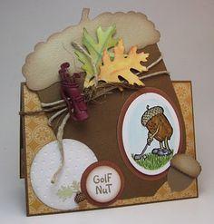 Golf Nut birthday card.