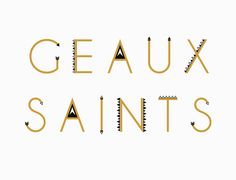 Geaux Saints Print Greeting Cards