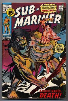 Sub-Mariner 42 Marvel 1971 Namor Gil Kane Gerry Conway Marvel Comic Books, Comic Book Characters, Comic Character, Comic Books Art, Marvel Characters, Book Art, Lucky Luke, Univers Marvel, Tarzan